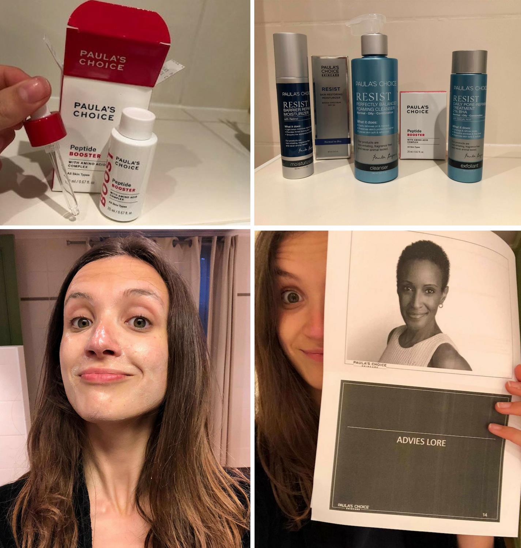 redactrice Lore test de huidverzorgingsroutine uit